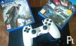 Ps4 500gb with 2 games and contolrollers