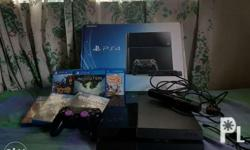 Smooth, no issues PS4 BUNDLE with controller, camera