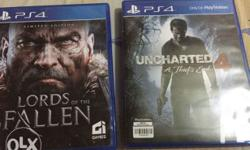 For sale/Swap Ps4 games UNCHARTED 4 -1,000 LORDS