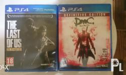 The Last Of Us Remastered - 800 php DmC Devil May Cry
