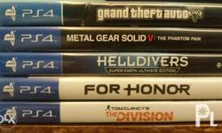 PS4 Games for Sale GTA V with Map - 1500 Metal Gear