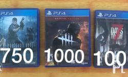 PS4 Games for sale only Price posted No scratch RFS: