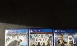 Assassins creed unity / Watch dogs / Ufc 2