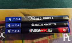 For sale only.. Mk xl = 1299 Fallout 4 = 999 Nba2k16 =