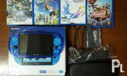 Selling my preloved psvita aqua blue version 3.65 w/