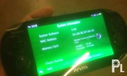 Fs: ps vita phat black mint condition updated firmware
