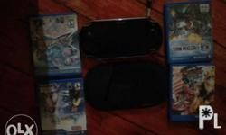 Ps vita fat with 11 game 8gb memo card and accesories