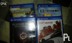Im selling my 4 games for only 3600 Resident evil