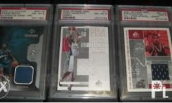 PSA Graded NBA Game Used Cards. All are game used cards