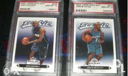 PSA Graded NBA Rookie Cards. All are rookie and rookie