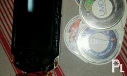 Psp 2012 with free 5 umd disc games Slightly use dahil