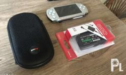 Rush sale psp 3001 silver Complete package na po Unit
