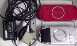 Sale 2 PSP unit with issue PSP3007 Red may mantsa sa