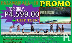 ALL-IN PROMO!! PUERTO PRINCESA, PALAWAN with CITY TOUR