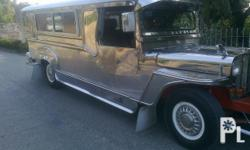 puj jeepney 4bcs engine pure stainless 9 seater private