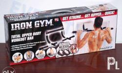 for sale brand new: iron gym pull up bar as seen on tv