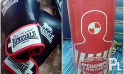 Good as new. Original Power trainer. Boxing gloves