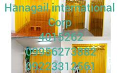 We supply and install pvc strip curtain any point of