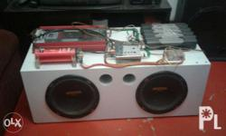 Pwd Swapp motorcycle Two kicker ES 12' Subwoofer. One