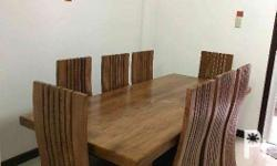 For sale high quality handcrafted dining set 8 seaters