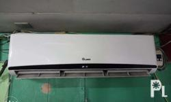 QUBE split type aircon 3hp inverted 9months used good