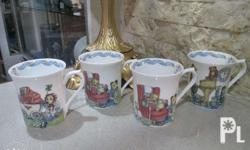 Kid's Mug Collection 4 Pieces By: Queen's, England