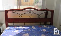 Queen Size Bed with Dew foam Mattress, Corner Tables