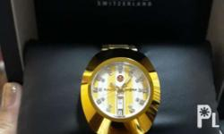 Authentic RADO unisex watch in color gold brand new