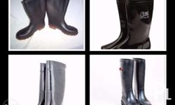 Rain Boots Color: Black Rubber On Stock For orders
