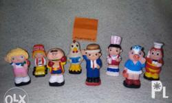 Complete Set of 8 Toys Classic 1988 Original Jolly