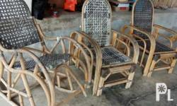 Rattan chairs 1000 each In good condition All works the