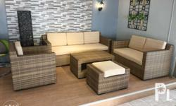 Modern indoor outdoor rattan sofa set We do custom made