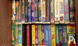 LOT sale of children's vhs tapes. 110 pieces! Includes