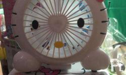 Hello Kitty Rechargeable Electric Fan (White and Pink)