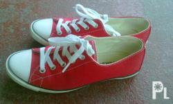Deskripsiyon size 5 & half, red, 2 times used only, new