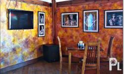 great designed restaurant with 2 boutique rooms. in the