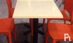 Square Table Isotop Table Top with Copa x 1 Leg Cast