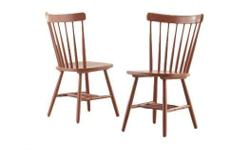 Wood Dining Chairs Solid timber frame colors: Dark