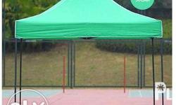 Retractable tent good for cover rain or shine. Bazzar
