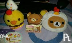 Selling Rilakkuma Plush, Keychain and Wallet for Php