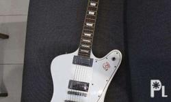 RJ electric guitar Gibson Firebird copy, white in very