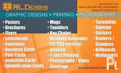 RLDESIGNS DIGITAL GRAPHIC SERVICES Services Offered: ?