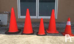 Traffic Cones Rubberized & Plastic available 30 inches