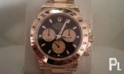 Brand new rolex daytona solid 18k gold with paperwork