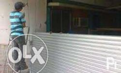 we install polycarbonate and galvanize roll up door (