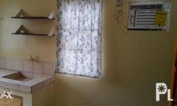 Good for 2; studio type semi furnished independent