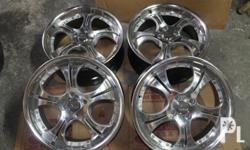 Orig. Rota wheels 17 inch four holes chrome mags in