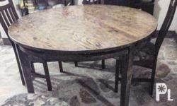 Solid pine bespoke round dining table seats 6-8