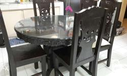 Round dining table with lazy susie 6-seater Main table