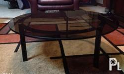 Round Glass Center Table for sale With tinted 1/2 inch